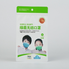 Quad-sealing Bag with Zipper For Dust Mask Packaging