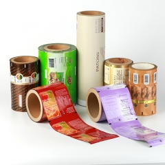 Printed Plastic Roll Film for Food Packaging