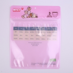 Quad-sealing Packaging Bag with Zipper for Underwear Packaging