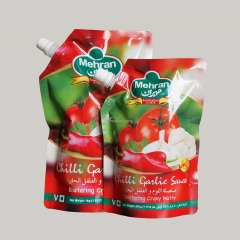 Tomato Sauce Packaging Stand Up Spouted Pouch