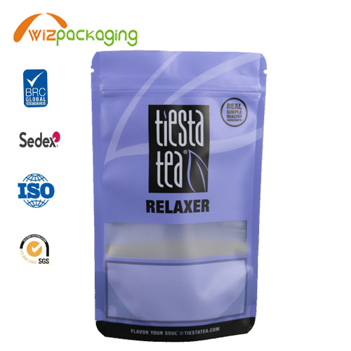 Mett Finishing Stand Up Pouch for Tea and Coffee Packaging