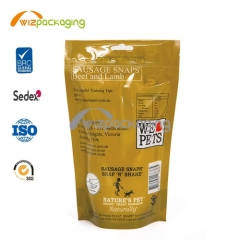 Resealable Stand up Pouch for Pet Food Packaging
