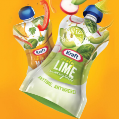 Custom Shaped Pouch with Spout For Juice Packaging